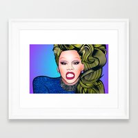 rupaul Framed Art Prints featuring RUPAUL by Alli Vanes