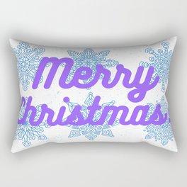 Merry Christmas Snowflakes Rectangular Pillow