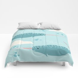Narwhal blue Comforters