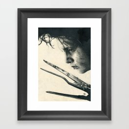 Edward Scissorhands ~ Johnny Depp Traditional Portrait Print Framed Art Print