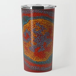 Growing - Lamium - plant cell embroidery Travel Mug