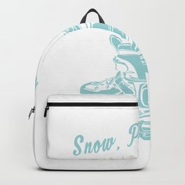 Snow, Plow, Stop Rollerblades Skates Backpack