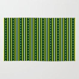 Stripes Pattern #204 (green) Rug
