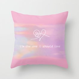 bts jin epiphany - i'm the one i should love Throw Pillow