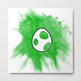 Yoshi Egg Metal Print