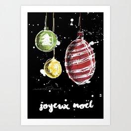 Joyeux Noël - Christmas Art Print