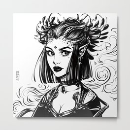 Witch Demoness Metal Print