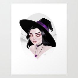 Purple Witch Art Print