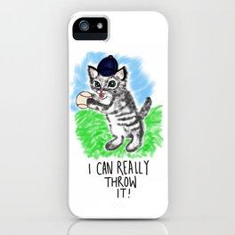 I can really throw it! iPhone Case