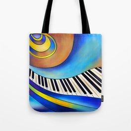 Redemessia - spiral piano Tote Bag
