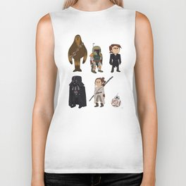 In a Galaxy Far, Far Away Biker Tank