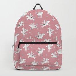Unicorns on a pink sky Backpack