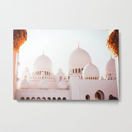 Dubai Mosque Metal Print