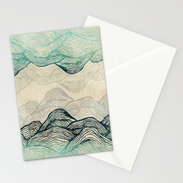 Crash Into Me Waves Stationery Cards