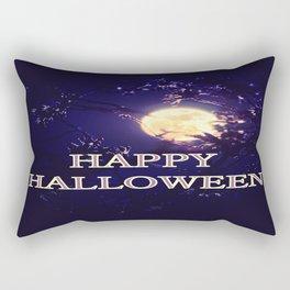 Happy Halloween Full Moon Rectangular Pillow