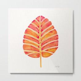 Elephant Ear Alocasia – Peach Palette Metal Print
