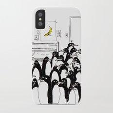 penguins in the bedroom Slim Case iPhone X