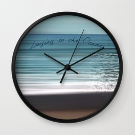 Longing to the Ocean I Wall Clock