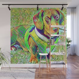 Great Green Dachshund Wall Mural