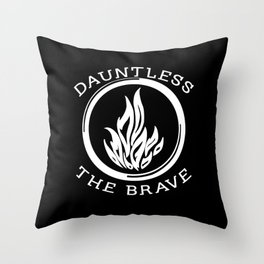 Divergent -  Dauntless The Brave Throw Pillow