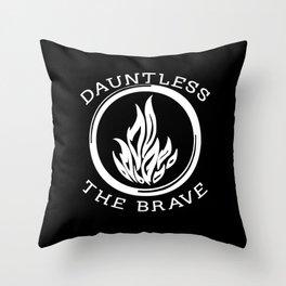 Divergent -  Dauntless The Brave Throw Pillow