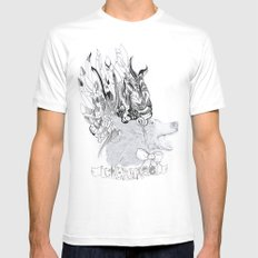 Cherokee Bear White Mens Fitted Tee SMALL