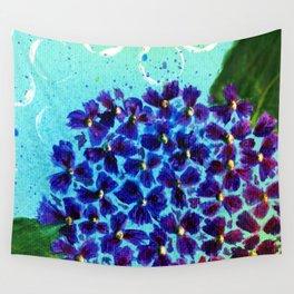 Purple Hydrangea Wall Tapestry