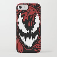 carnage iPhone & iPod Cases featuring carnage by Rebecca McGoran