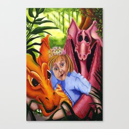 Abigail and her Dragons Canvas Print