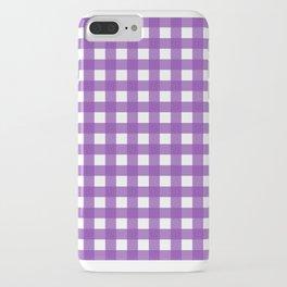 Farmhouse Gingham in Purple iPhone Case
