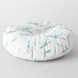 Blue Dragonfly Floor Pillow