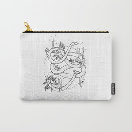 Embellished Snake Carry-All Pouch