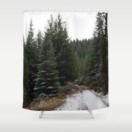 First winter snow.. Shower Curtain