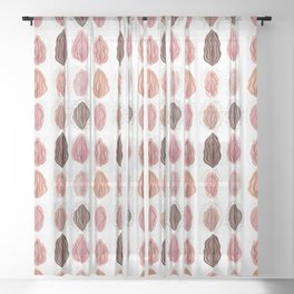 Vulva Repeat Sheer Curtain