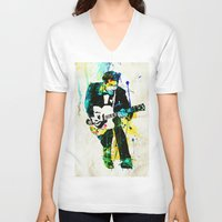 chuck V-neck T-shirts featuring chuck berry by manish mansinh