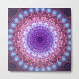 Star Dance Mandala Metal Print