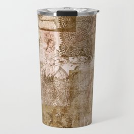Vintage & Shabby Chic - Victorian ladies pattern Travel Mug