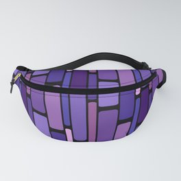 Purple Indigo Retro Blocks Fanny Pack