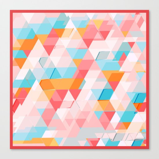 Crumbling triangles Canvas Print