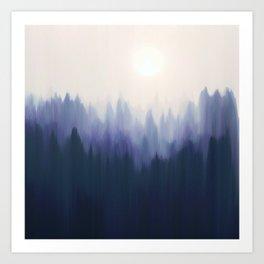 Autumn Fog   Indigo Edition Art Print