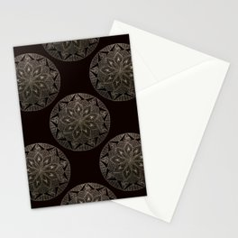 Maroon Mandala Pattern Stationery Cards