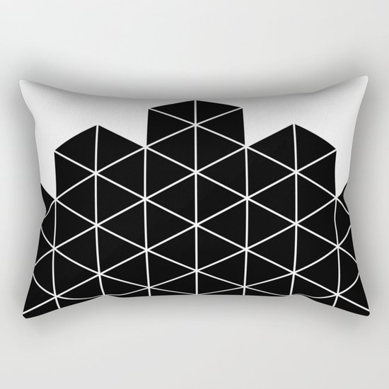 Black And White Stack Rectangular Pillow
