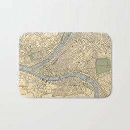 Vintage Map of Pittsburgh PA (1891) Bath Mat