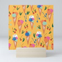 Gelati Dream // Pattern Design // Summer collection Mini Art Print