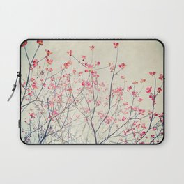 Ruby and Rose Quartz -- Red Pink Dogwood Tree in Flower Laptop Sleeve
