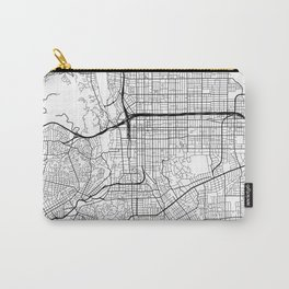 Pasadena Map, USA - Black and White Carry-All Pouch