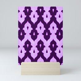Mauresque Counterchange (Lilac) Mini Art Print