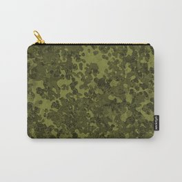 Olive Green Hybrid Camo Pattern Design Carry-All Pouch