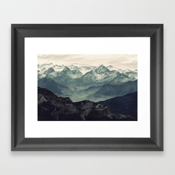 Mountain Fog Gerahmter Kunstdruck