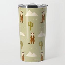 Desert full of meerkats Travel Mug